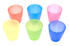 Kitchen plastic cup Royalty Free Stock Images