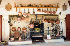 Kitchen at Pommard Stock Photography