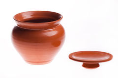 Kitchen pot isolated Royalty Free Stock Images