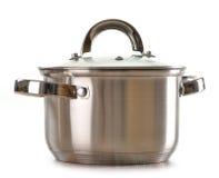 Kitchen pot on white royalty free stock photos