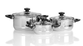 Cooking pots. royalty free stock photos