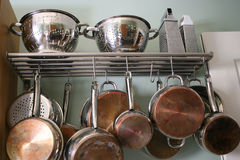 Kitchen Pots and Pans Stock Photos