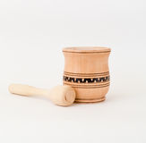 Kitchen pounder and pestle Stock Image