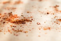 Powder paprika. Kitchen,powder paprika and fresh paprika Royalty Free Stock Photography