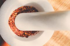 Powder paprika. Kitchen,powder paprika and fresh paprika Stock Image