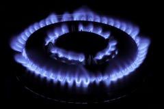 A kitchen range on black background. Methane butane natural gas Stock Image