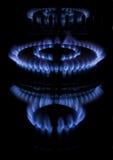 A kitchen range on black background. Methane butane natural gas Stock Photography