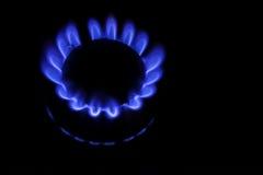A kitchen range on black background. Methane butane natural gas Royalty Free Stock Image