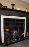 Kitchen Range at Standen Stock Image