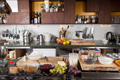 Kitchen ready to be used Royalty Free Stock Photography