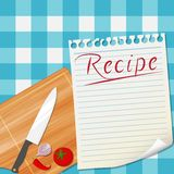 Kitchen recipe design background stock illustration