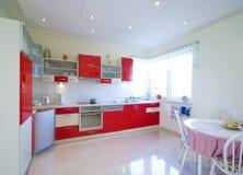 kitchen red Στοκ Εικόνα
