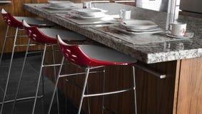 kitchen red Στοκ Φωτογραφίες