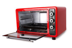 Kitchen red oven. Isolated on a white background Stock Photography