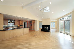 Kitchen in remodeled home Stock Photography