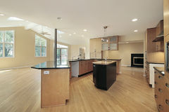 Kitchen in remodeled home Stock Image