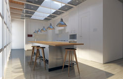 Kitchen Render Royalty Free Stock Images