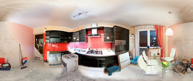 Kitchen renovation anatomy Stock Photography