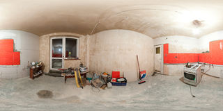 Kitchen renovation panorama Stock Photo