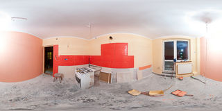 Kitchen renovation panorama Stock Images