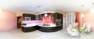 Kitchen renovation panorama Royalty Free Stock Photo