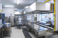 A kitchen of a restaurant stock photo