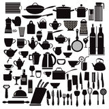 Kitchen and restaurant icon kitchenware Royalty Free Stock Images