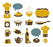 Kitchen and restaurant icons Royalty Free Stock Image