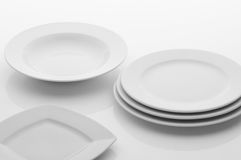 Kitchen and restaurant utensils, dishes Royalty Free Stock Images