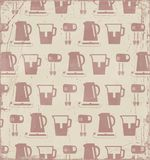 Kitchen retro background. Stock Photo