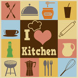 Kitchen retro poster Stock Images