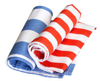 Kitchen rolled cloth isolated. Royalty Free Stock Images