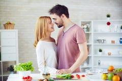 Kitchen romance Royalty Free Stock Photography