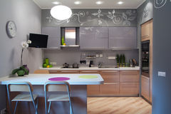 Kitchen room Royalty Free Stock Images