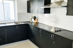 Kitchen room. Cooker hood in kitchen room at home Royalty Free Stock Image
