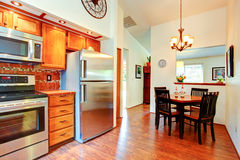 Kitchen room with dinig area Royalty Free Stock Images