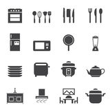 Kitchen room icon set Stock Image