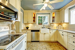 Kitchen room interior in countryside house Stock Photography