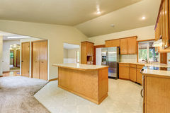 Kitchen room interior in the horse ranch Stock Image