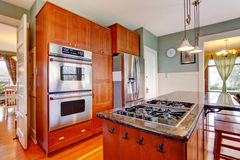 Kitchen room with island Stock Photography
