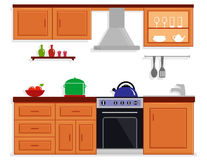 Kitchen room isolated furnishing interior Stock Photography