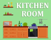 Kitchen room isolated interior Royalty Free Stock Images