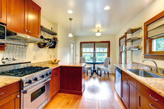 Kitchen room with small dining area Royalty Free Stock Photo