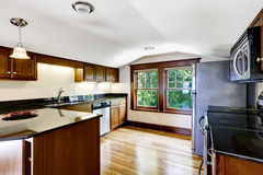 Kitchen room with vaulted ceiling Royalty Free Stock Photography