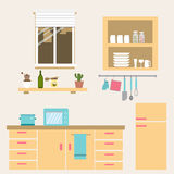 The kitchen room vector Royalty Free Stock Photography