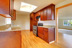 Kitchen room with velux windows Stock Photography