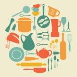 Kitchen round composition Royalty Free Stock Photo