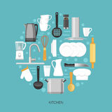 Kitchen Round Composition Stock Photography