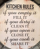 Kitchen rules. A useful kitchen rules background Stock Photos