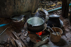 Kitchen in rural Thailand Royalty Free Stock Images